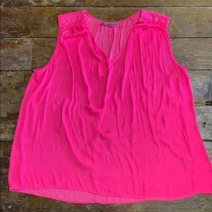 Hot Pink Jennifer Lopez 2x Tank blouse